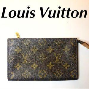 Louis Vuitton Pochette Toiletries Bag LV Monogram